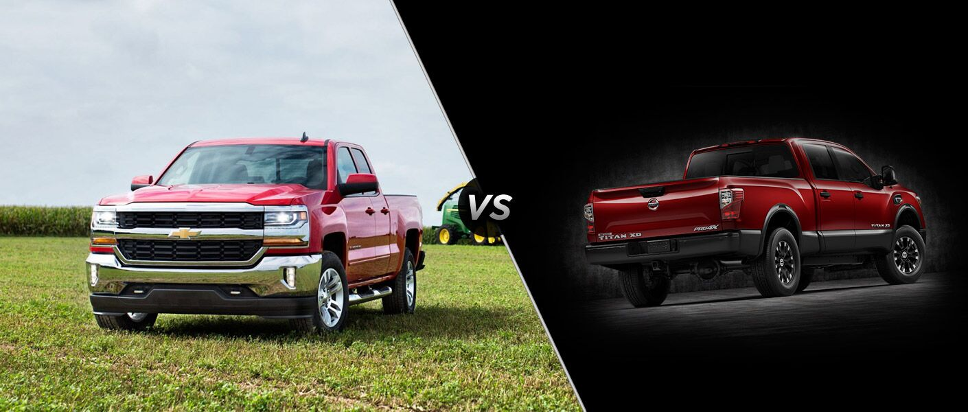2016 Chevy Silverado 1500 vs. 2016 Nissan Titan XD Lexington KY