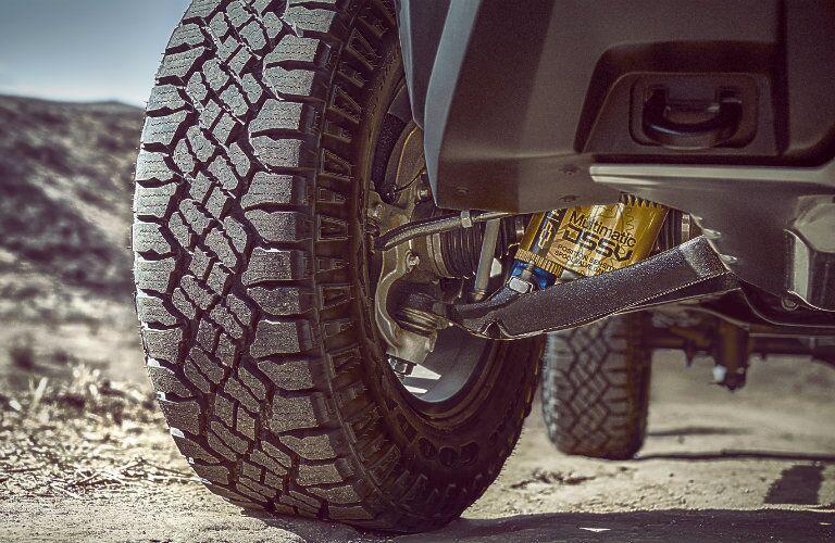 2017 Chevrolet Colorado front exterior tires and shocks