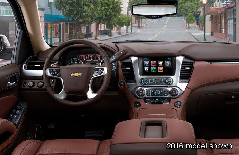2017 Chevrolet Tahoe front interior driver dash and display audio