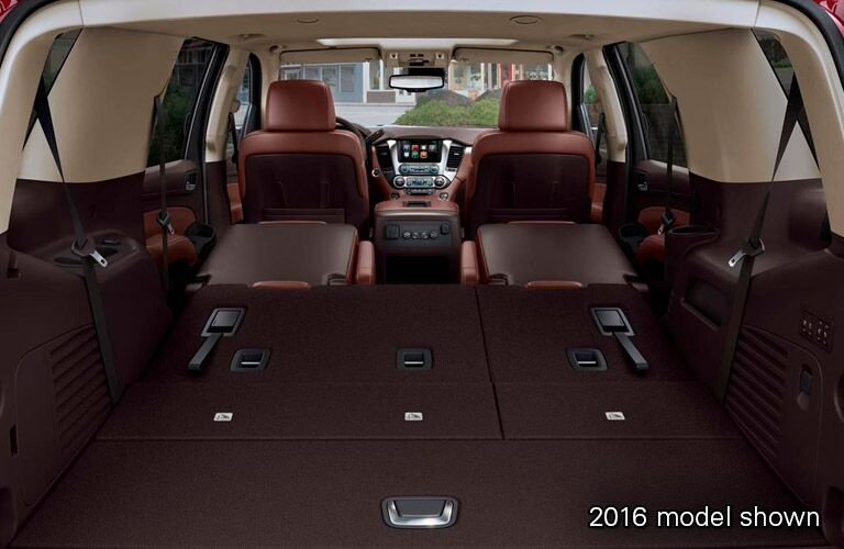 2016 Chevrolet Tahoe rear interior cargo hold seats down