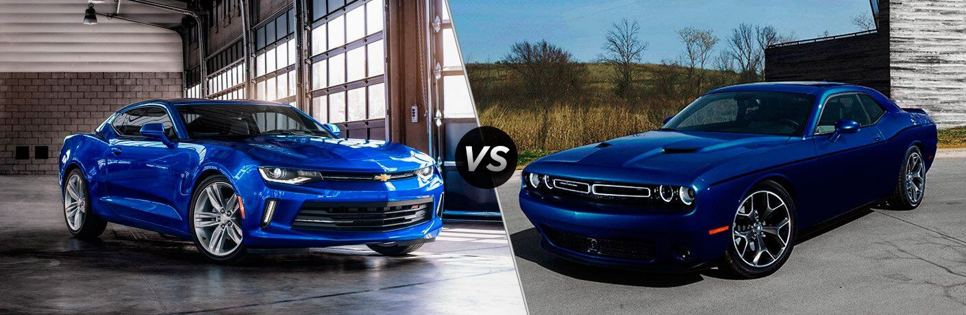 2017 Chevrolet Camaro vs 2017 Dodge Challenger
