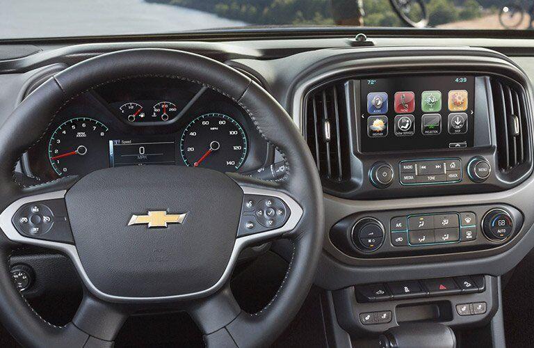 2017 Chevrolet Colorado front interior driver dash and display audio