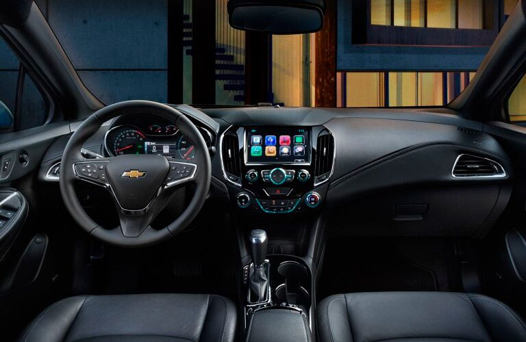 2017 Chevrolet Cruze front interior driver dash and display audio