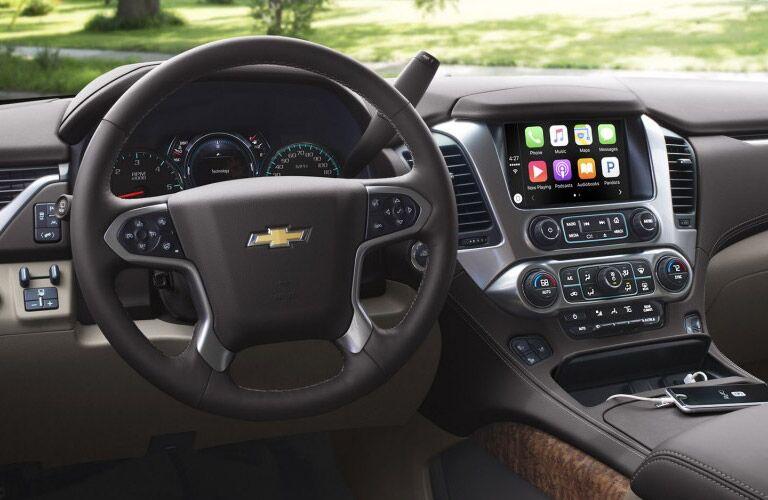 2017 Chevrolet Suburban front interior driver dash and display audio
