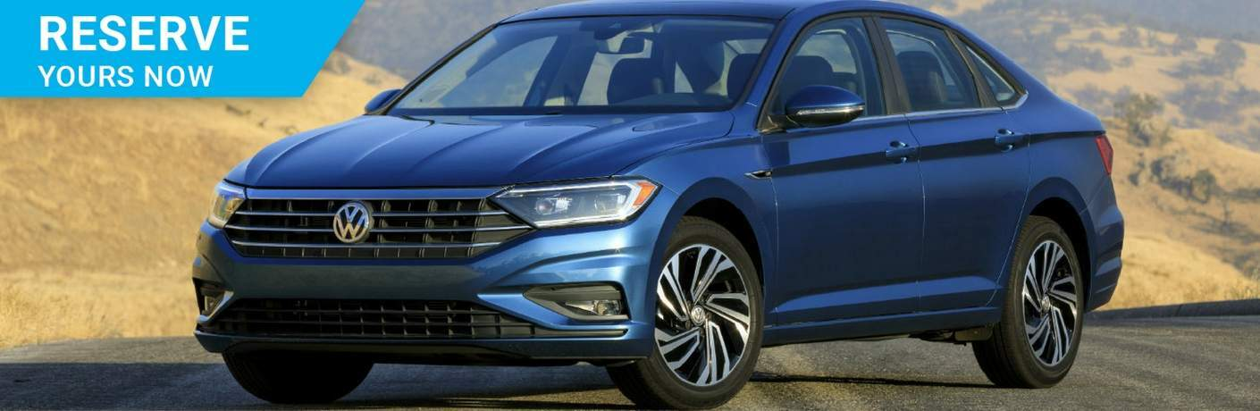 "2019 Volkswagen Jetta with ""Reserve Yours Now"" banner"