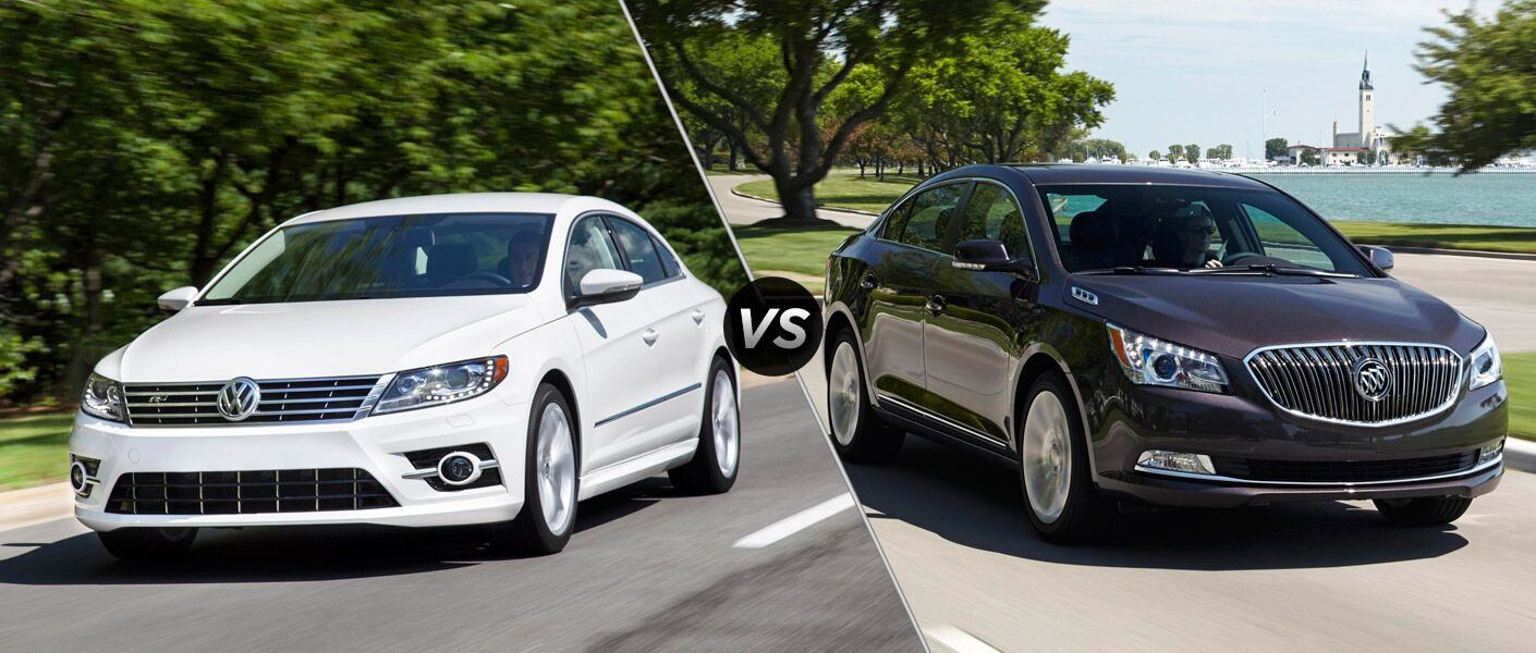 What's the difference between the 2015 Volkswagen CC vs 2015 Buick LaCrosse?