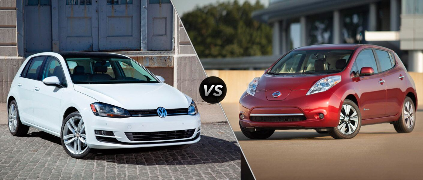 The 2015 Volkswagen e-Golf vs 2015 Nissan Leaf may seem stiff, but when the numbers are looked at closer there's no competition.