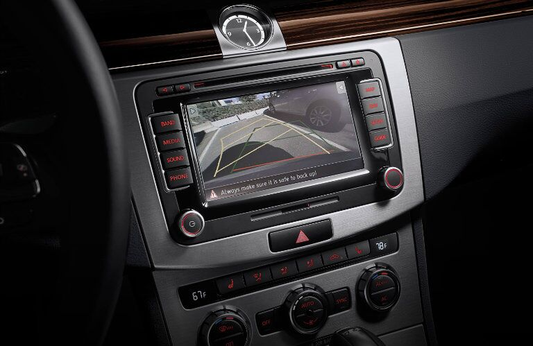 The standard rearview camera found in the 2015 Volkswagen CC Glendale CA brings safety and convenience