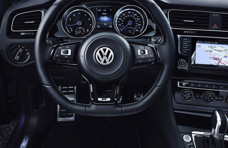 The premium interior of the 2015 Volkswagen Golf R Glendale CA