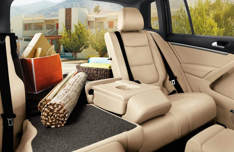 Fold-flat seats give you even more space in the 2015 Volkswagen Tiguan Glendale CA