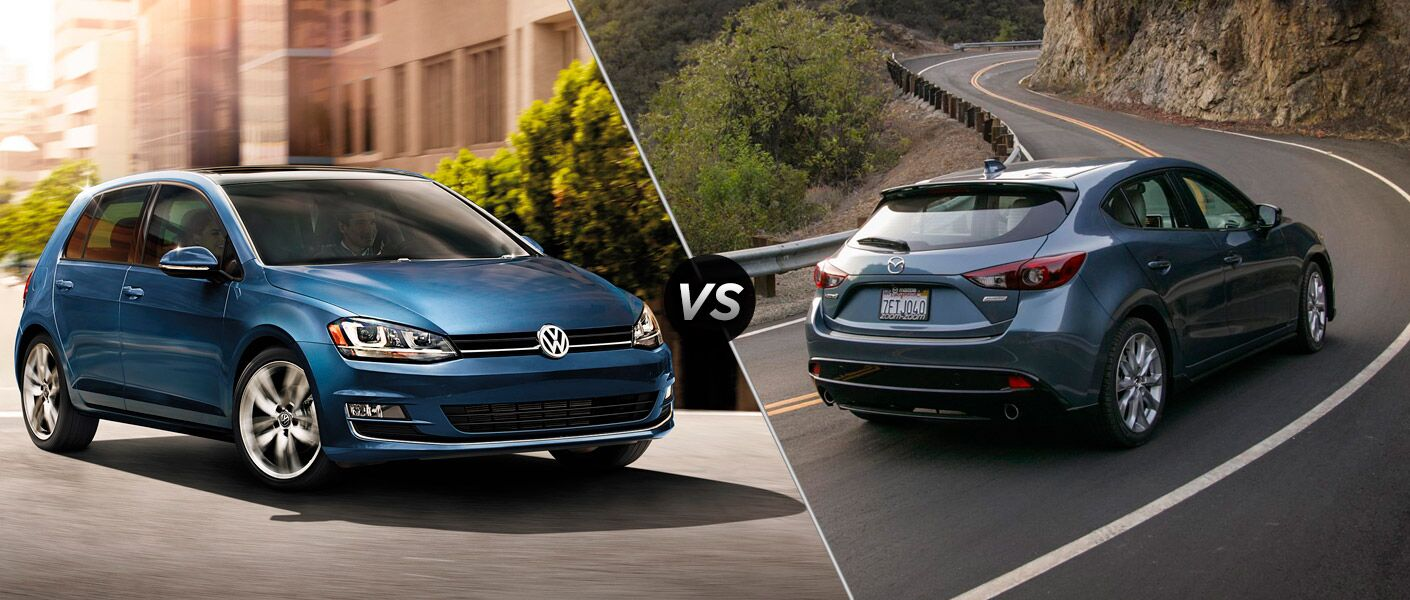The 2015 Volkswagen Golf vs 2015 Mazda3 comparison highlights the differences.