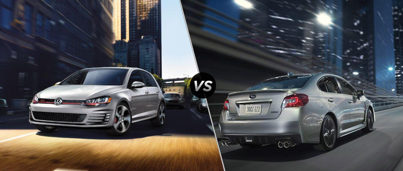 2016 Volkswagen Golf GTI vs 2016 Subaru WRX