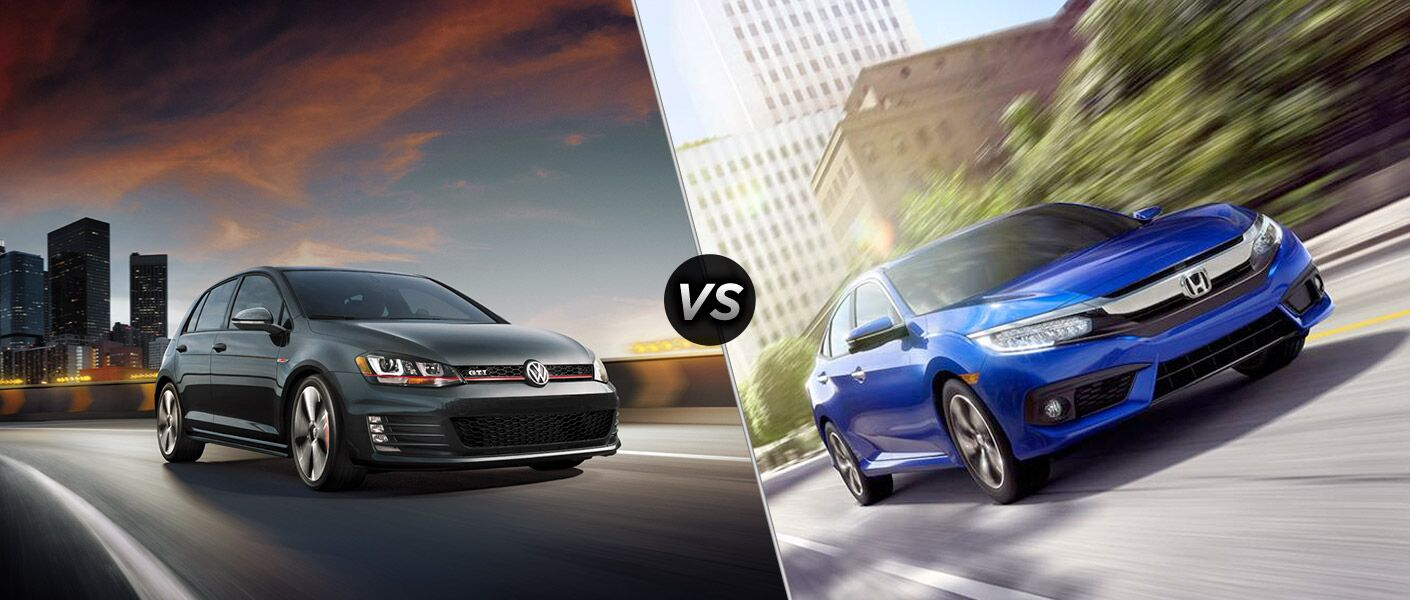 2016 volkswagen golf gti vs 2016 honda civic. Black Bedroom Furniture Sets. Home Design Ideas