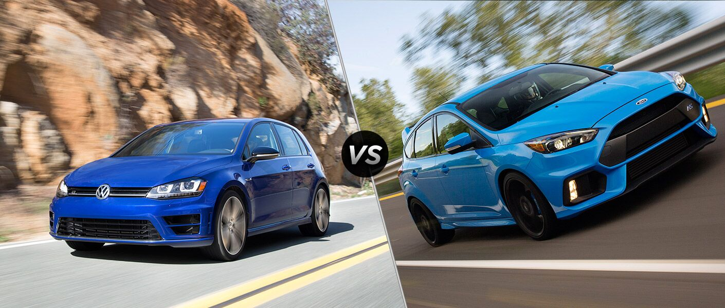 2016 Volkswagen Golf R vs 2016 Ford Focus RS