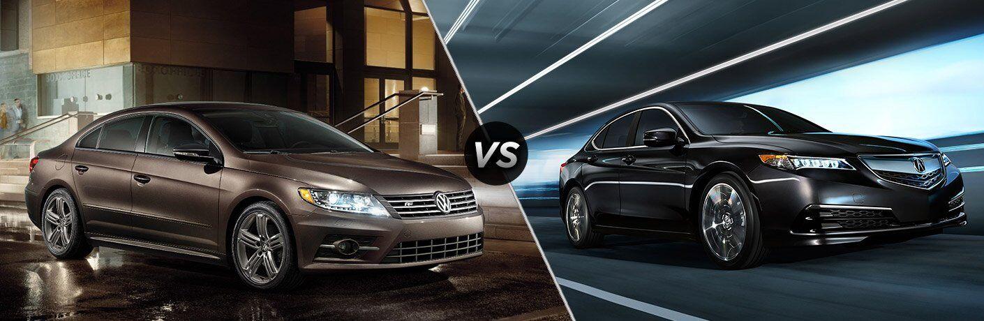 2017 Volkswagen CC vs 2017 Acura TLX