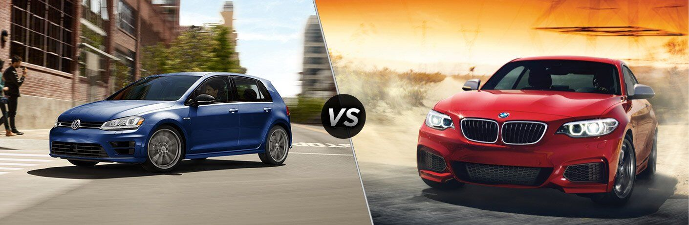 2017 Volkswagen Golf R vs 2017 BMW M240