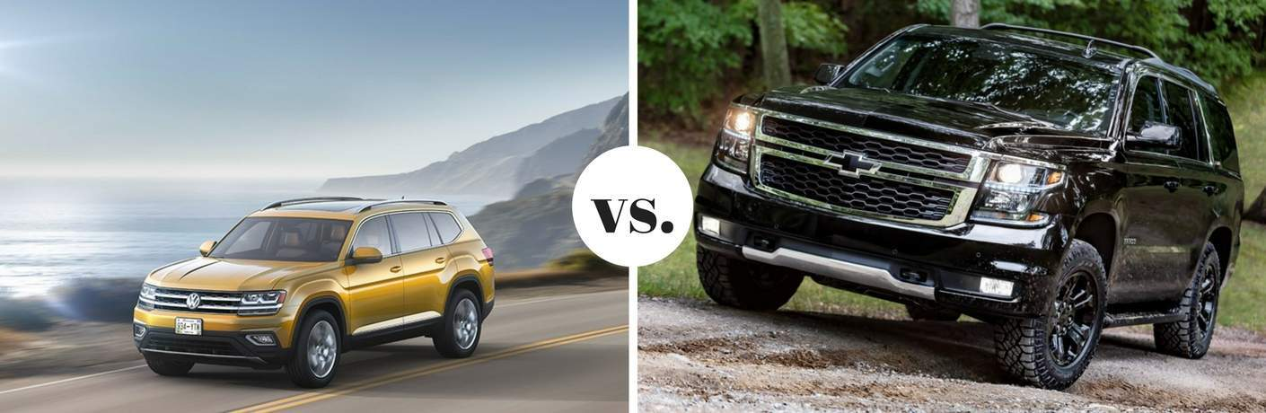 2018 Volkswagen Atlas vs 2017 Chevrolet Tahoe