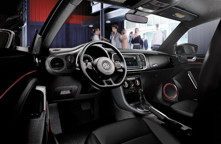 2017 VW Beetle interior with ambient lighting