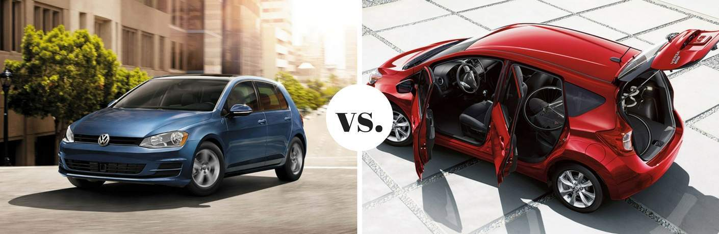2017 Volkswagen Golf vs 2017 Nissan Versa Note