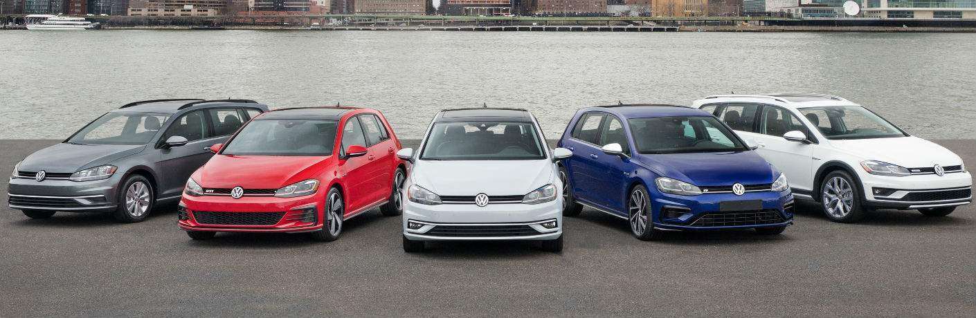 2018 Volkswagen Golf Family Lineup by a River