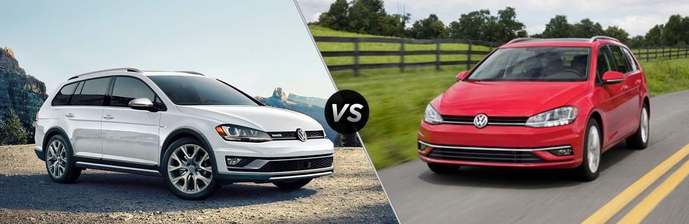 2018 Volkswagen Golf Alltrack vs 2018 Volkswagen Golf SportWagen