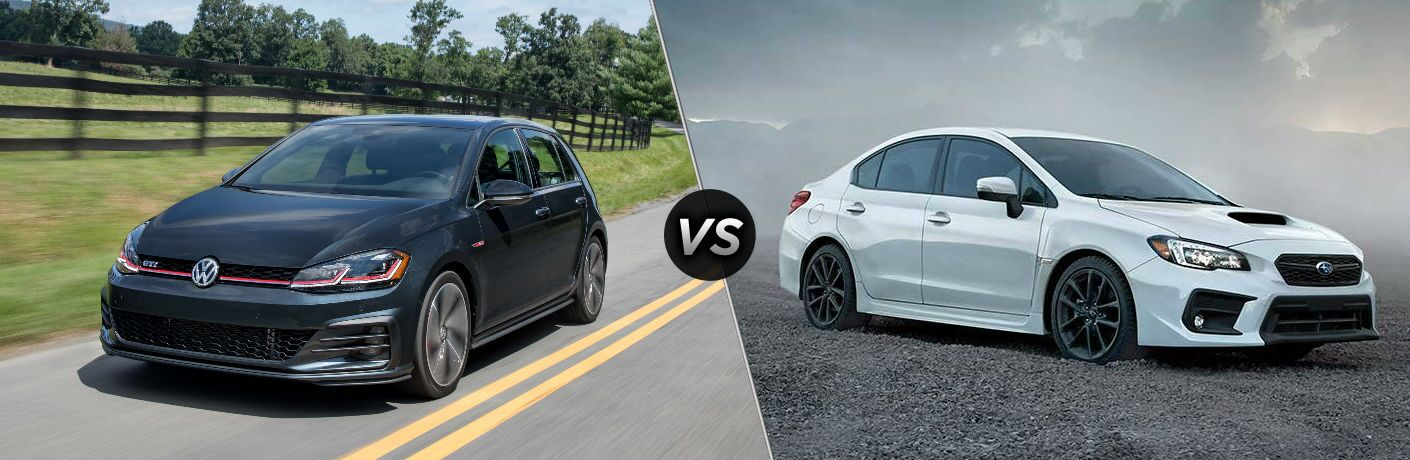 2018 VW Golf GTI vs 2018 Subaru WRX side-by-side