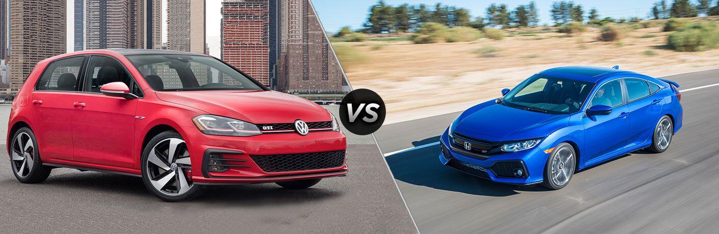2018 Volkswagen Golf GTI vs 2018 Honda Civic Si