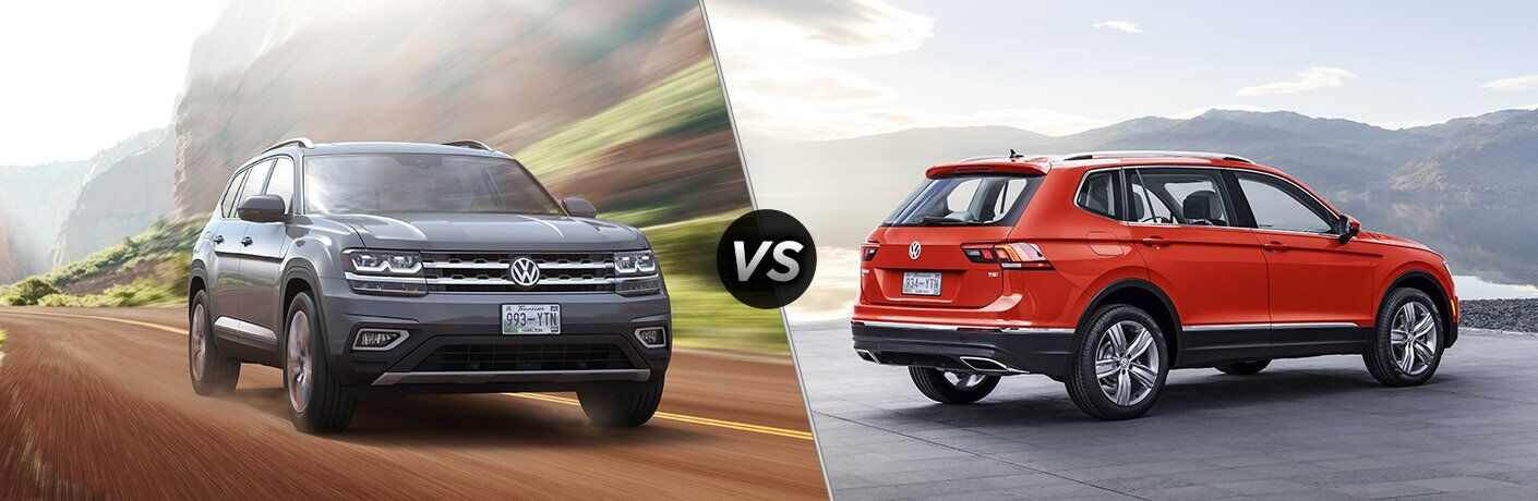 2018 VW Atlas vs 2018 VW Tiguan