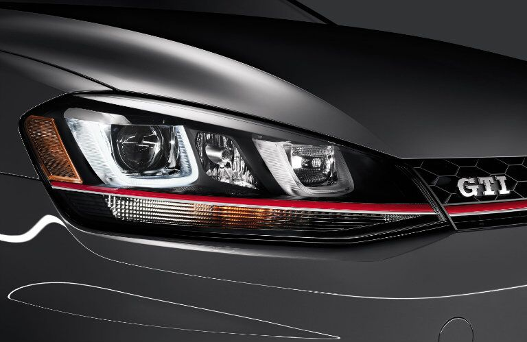 The headlights of the 2015 Golf GTI Glendale CA are the windows to its soul