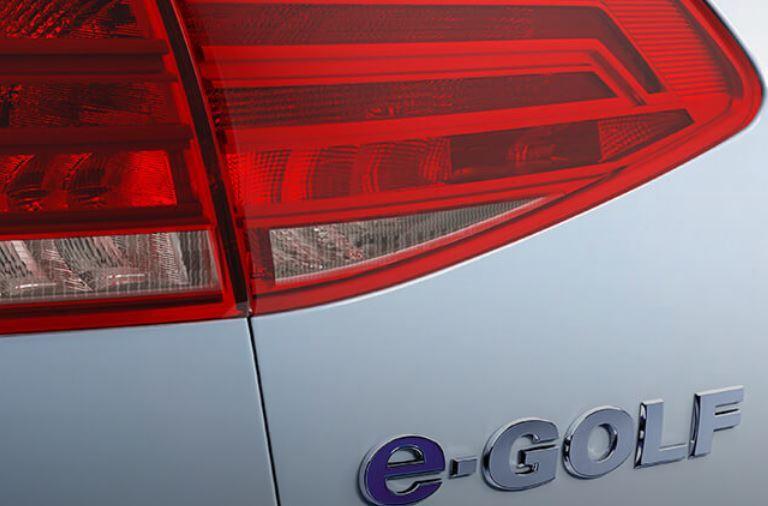 logo on 2019 Volkswagen e-Golf