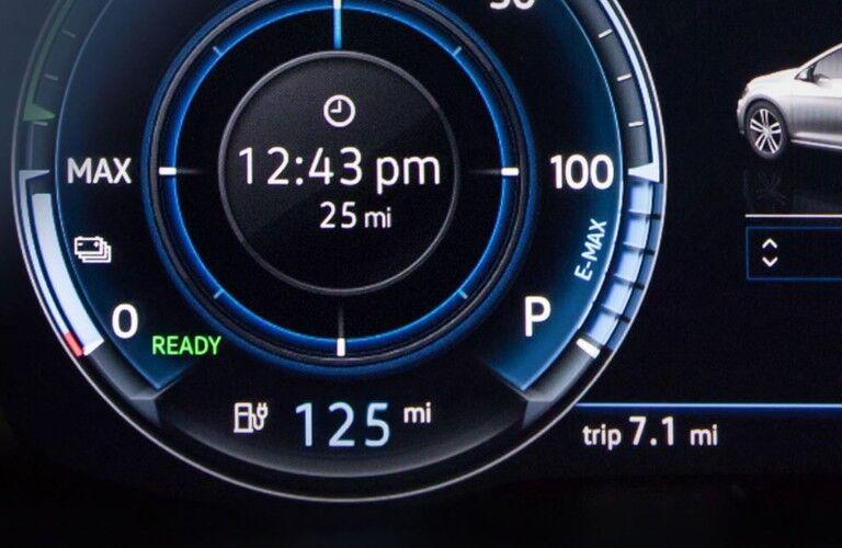 digital cockpit in 2019 Volkswagen e-Golf