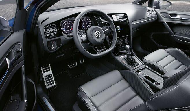 2018 Volkswagen Golf R driver side interior showing sleek design