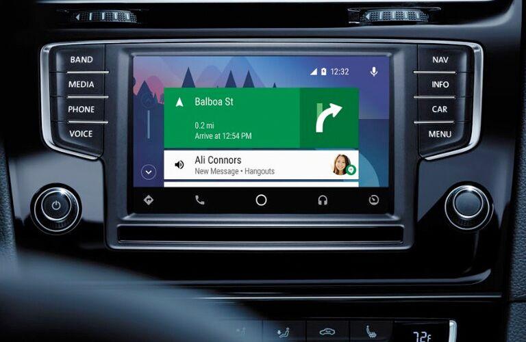 2018 Volkswagen Golf R simulated navigation screen