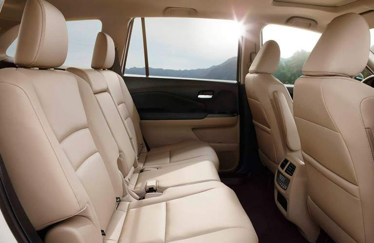 Side view of the 2017 Honda Pilot's rear seats