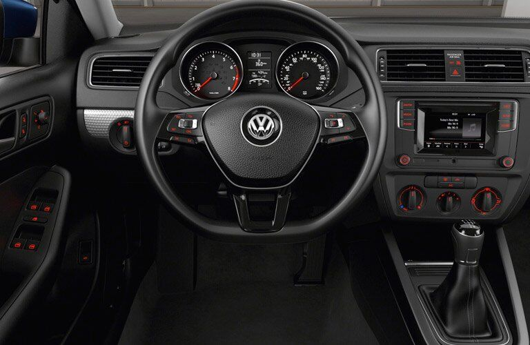 Driver cockpit view of 2017 Volkswagen Jetta