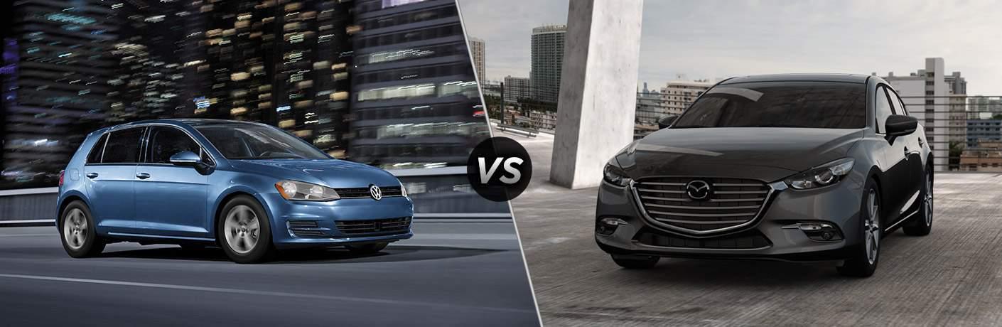 2017 Volkswagen Golf vs 2017 Mazda3