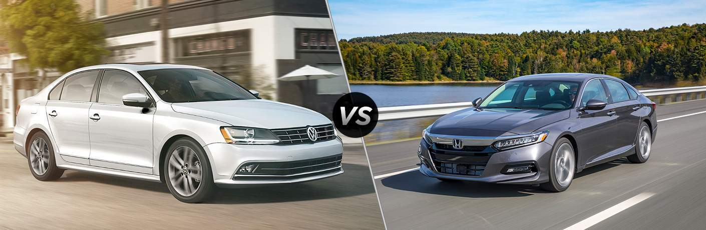 "2018 VW Jetta on left ""vs"" 2018 Honda Accord on right"
