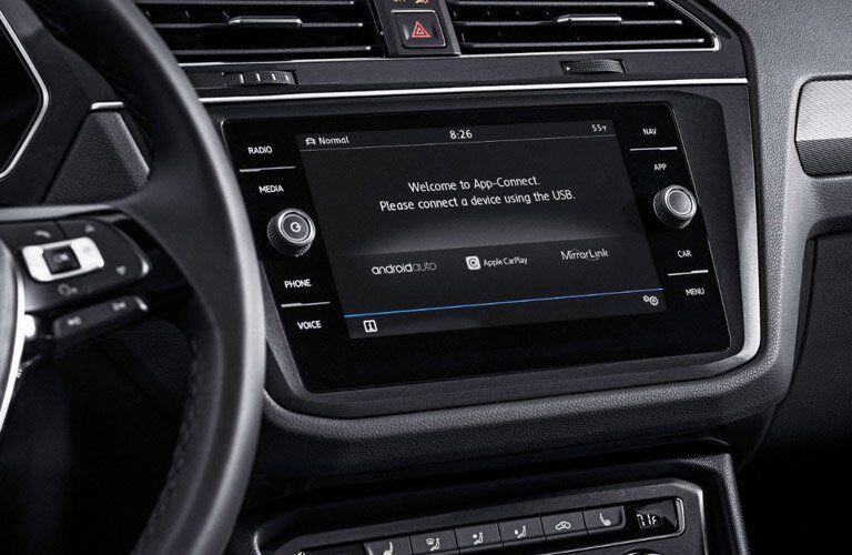 Center touchscreen of the 2018 VW Tiguan