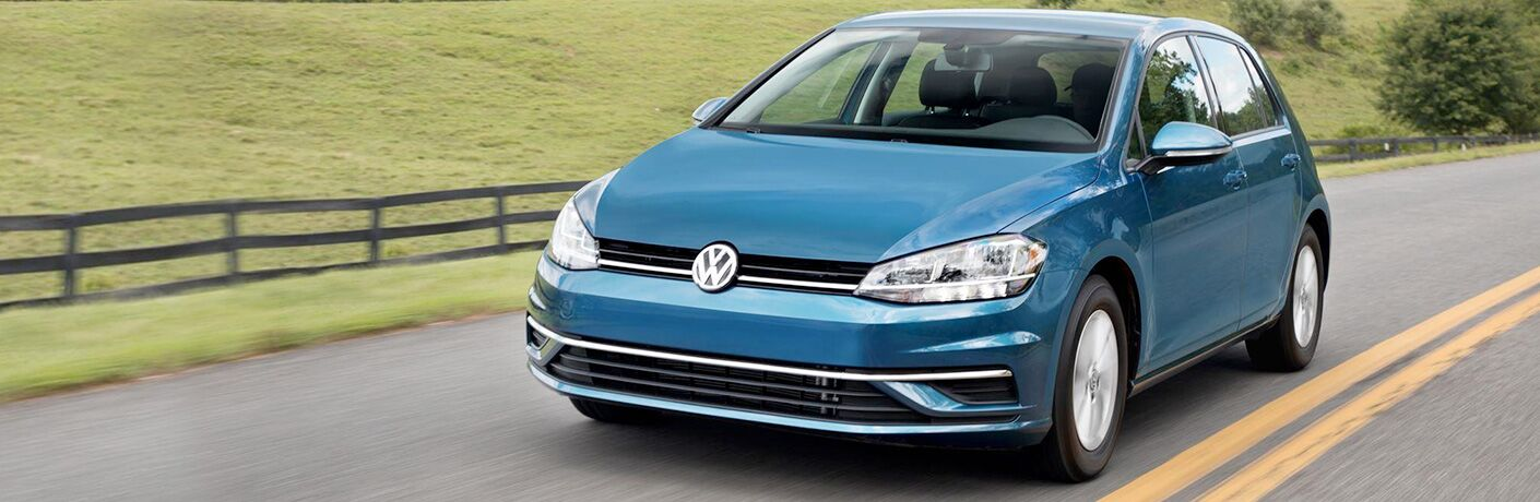 Blue 2018 Volkswagen Golf