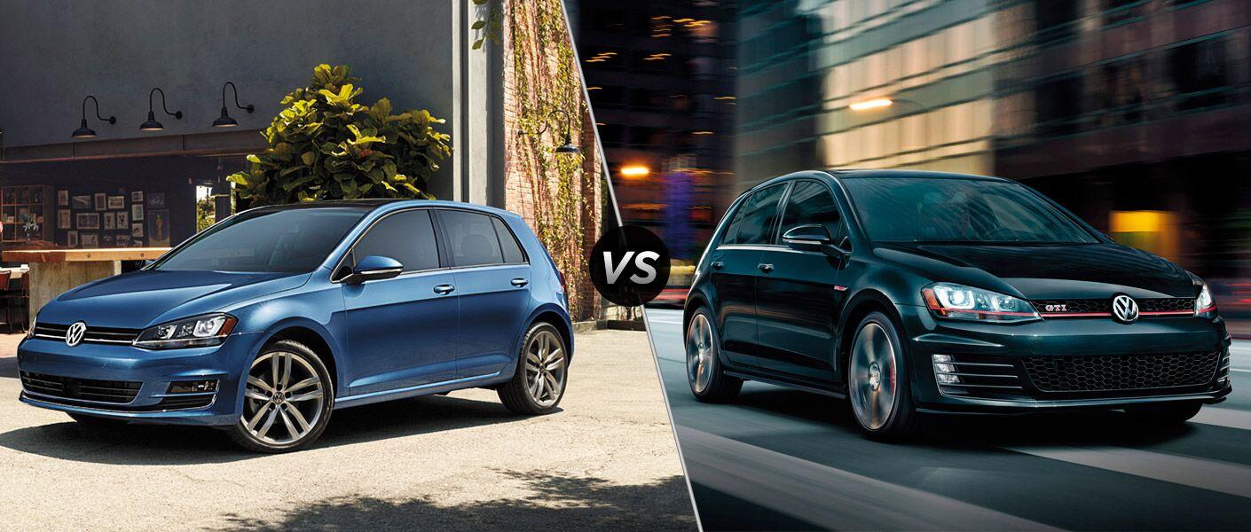 2016 Volkswagen Golf vs. 2016 Volkswagen Golf GTI Models