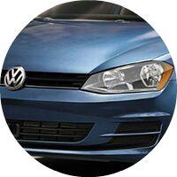 2017 Volkswagen Golf hood and grille