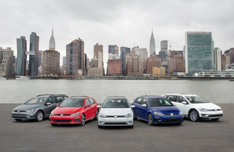 2018 Volkswagen Golf family lineup by water