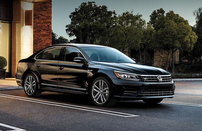 black 2019 Volkswagen Passat in parking lot