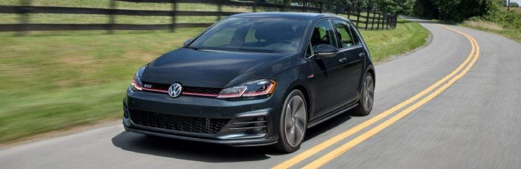 2018 Volkswagen Golf GTI on country road