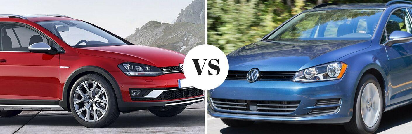2017 Volkswagen Golf Alltrack vs 2017 Volkswagen Golf Sportwagen