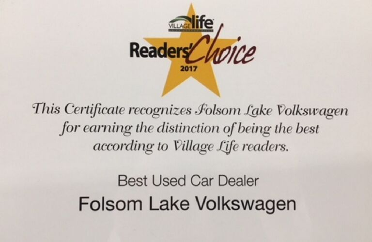 Village Life Readers' Choice Award for Best Used Car Dealer
