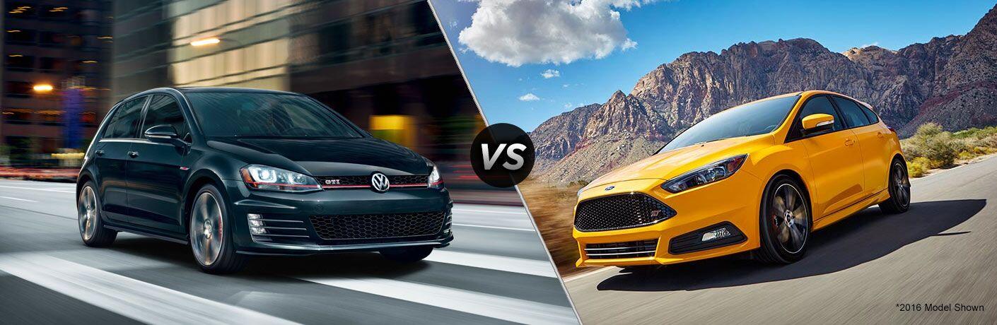2017 Volkswagen Golf GTI vs 2017 Ford Focus ST