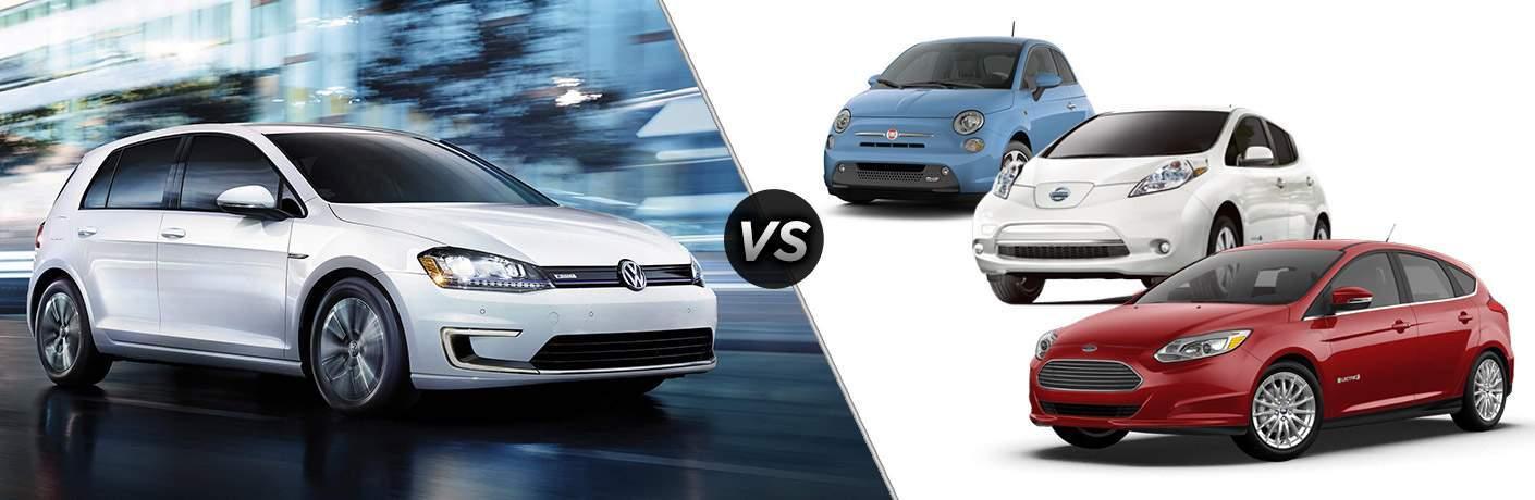 2017 Volkswagen e-Golf vs Leaf vs Focus Electric vs Fiat 500e