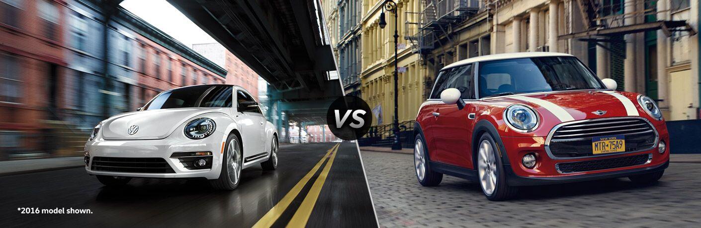 2017 Volkswagen Beetle vs 2017 MINI Cooper