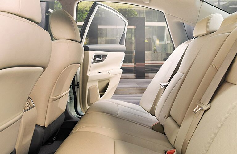 View of Rear Seat in 2017 Nissan Altima in Cream